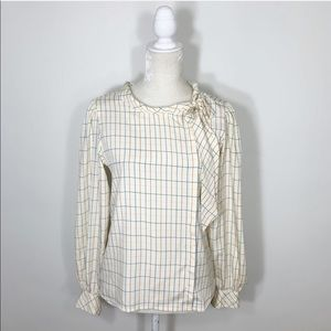 VINTAGE Jack Mulqueen check button up blouse